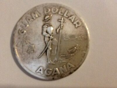 1974 GUAM DOLLAR AGANA, HAFA ADAI WHERE AMERICAs DAY BEGINS, GUAM USA