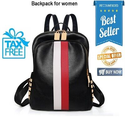 664e79f86279 Ladies Luxury Leather Bag Backpack Pattern Tote Handbag Gift For Women NEW