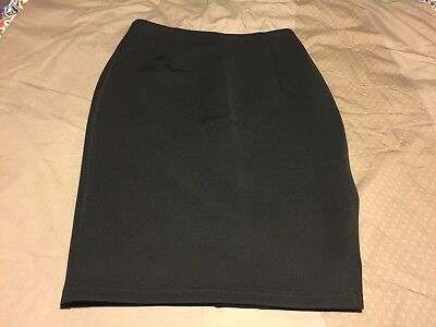 FORECAST Black Pencil Skirt Size 12 For Office