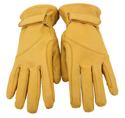 Western Memory Leather Western Biker Riding Gloves Natural S to 2XL