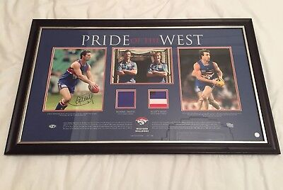 Rohan Smith & Scott West Pride Of The West Player Worn & Signed Western Bulldogs