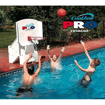 SUPER WIDE COOL Jam Pro Inground Swimming Pool Basketball Hoop Outdoor Play