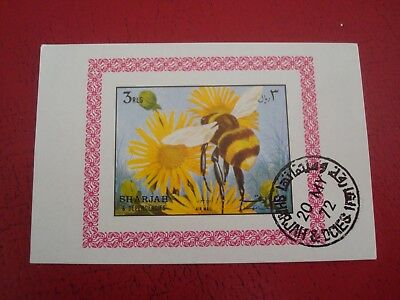 Sharjah - 1972 Insects 1 - Minisheet - Unmounted Used Miniature Sheet