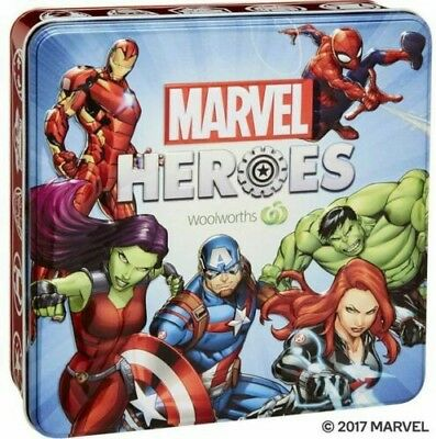 💥 Bargain 2 NEW & SEALED MARVEL HEROES Collector Empty Tins x 2
