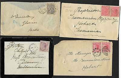 VICTORIA Rare 19th Century Group of 16 covers/postcards various BARRED NUMERALS