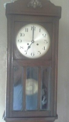 Vintage, 8 Day Striking Mahogany Wall Clock - Repair Only