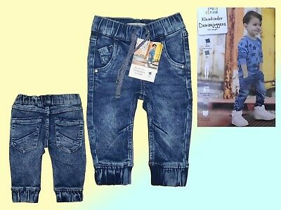 Toddler Jeans Trousers Soft Jogging Jeans with Elastic Band Size 74-86 NEW