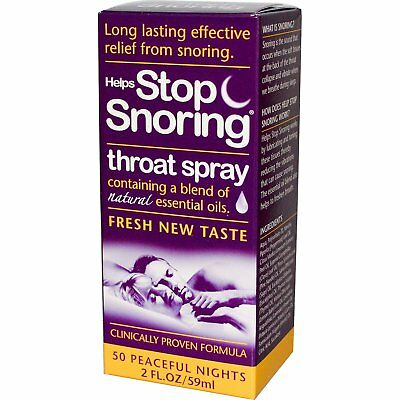 Helps Stop Snoring, Throat Spray, 2 fl oz (59 ml) - Essential Health Products