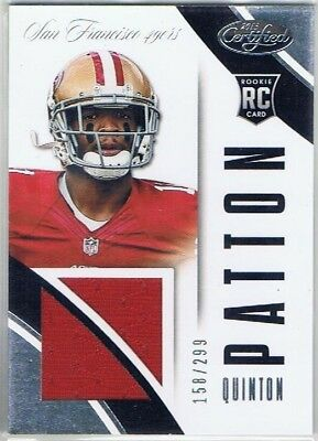 2013 Certified - Rookie Jersey #29 Quinton Patton - San Francisco 49ers #158/299