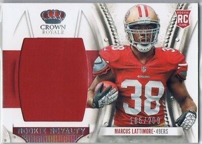 2013 Crown - Rookie Royalty Jersey #23 Marcus Lattimore - 49ers #185/299