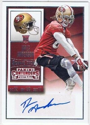 2015 Contenders - Rookie Ticket Auto #175 Dres Anderson - San Francisco 49ers