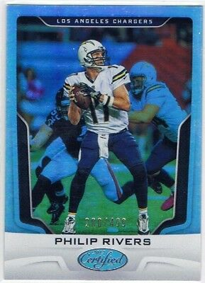 2017 Certified - Foil Parallel #17 Phillip Rivers - Chargers #200/499