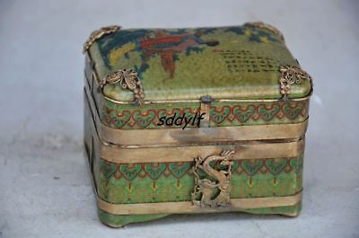 Delicate Chinese Porcelain Handmade Box