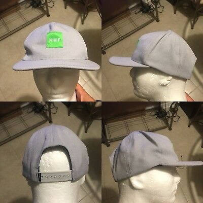a215a0b4838 Huf Wordwide Snapback Hat Cap Men s Grey Green EUC