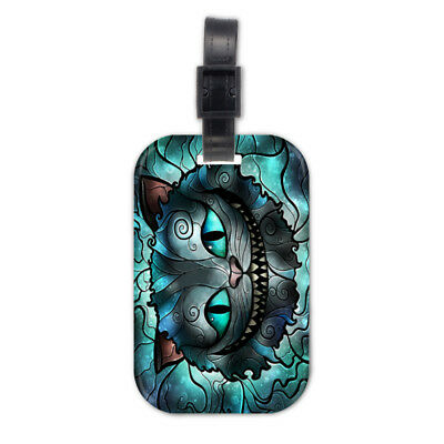 Cheshire Cat Alice Lovely Wood Travel Bag Luggage Tag
