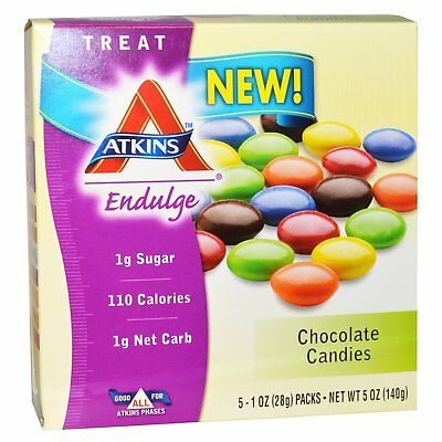 Treat Endulge, Chocolate Candies, 5 Packs, 1 oz (28 g) Each - Atkins