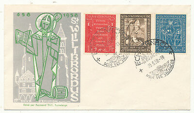 """Luxembourg """"st. Willibrord"""" # 583-585 Fdc (1958)"""