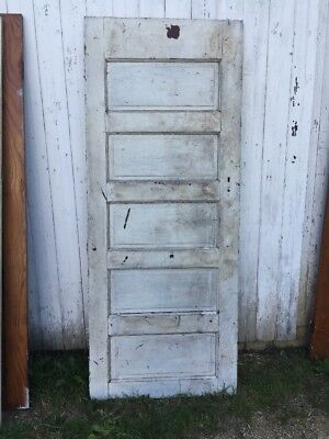 "Vintage Solid Wood 5 Panel Door 31 3/4"" x 78 3/8""h x1 3/8""d Architectural Salvag"