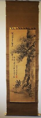 JAPANESE HANGING SCROLL Antique Art Painting #0033