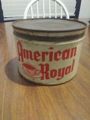 American Royal antique coffee can
