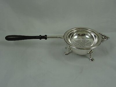 LARGE solid silver TEA STRAINER ON STAND, 1996, 89gm