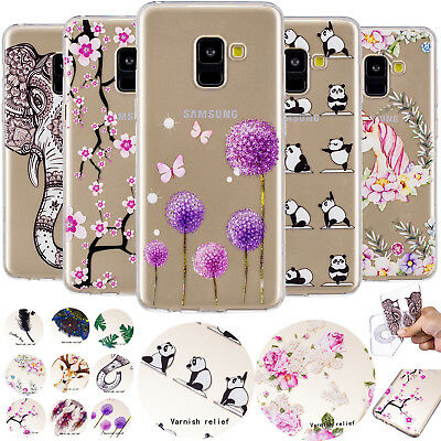 Embossed Print Pattern Soft TPU Case Clear Phone Cover For Various Mobile Phones