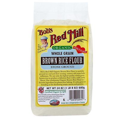 Organic Whole Grain Brown Rice Flour 24 Oz 680 G Bob S