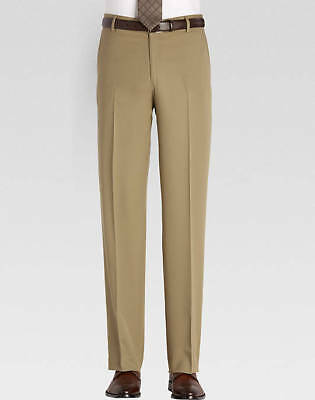 95dd62d32 Men's Wearhouse Joseph & Feiss Nwt Classic Fit 100% Wool Tan Slacks Unhemmed