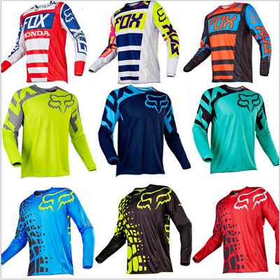 Motocross Jersey FOX Extreme Sports5 Color Off Road Clothing Quick Dry Function