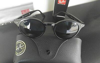 589e5dcd13e AUTHENTIC RAY-BAN RB 2180 601 71 Round Black Green Classic ...