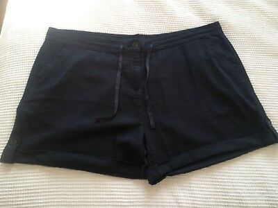 Next Navy Size 20 Linen Shorts