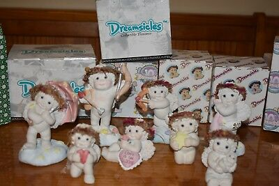 Lot of 8 Dreamsicles Figurines Angels Limited Edition - Some Autographed