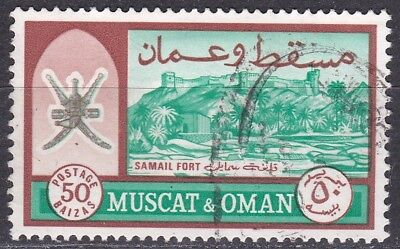 Muscat & Oman: 1966 Definitives: SG101a 50b with value in Arabic in baizas, VFU