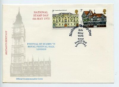 GB 1975 commemorative cover National Stamp Day Festival of Stamps (P536)