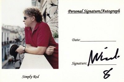 Mick Hucknall, Simply Red, original sign. Autogramm