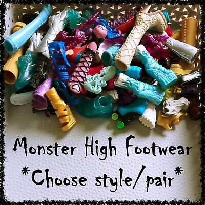 MONSTER HIGH Doll Shoes, Boots, Sandals (Lot 1) ~SELECT STYLE~ 1 Pair incl.