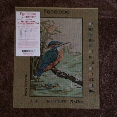 Kingfisher Tapestry Canvas - Penelope