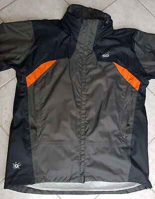 "SALEWA ""Alpine Experience"" Damen Outdoorjacke Gr.XL Powertex grau/schwarz/orange"