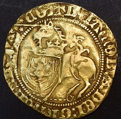 SCOTLAND GOLD UNICORN COIN c1488-JAMES STEWART IV-REBEL AGAINST HENRY8-VERY RARE