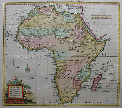 Afrika - Kitchen / Baldwyn 1794 - Africa, agreeable to the most approved maps..