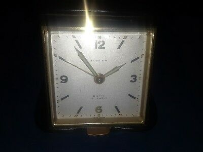 VINTAGE TURLER 8 DAY 15 JEWELS IMHOF SWISS TRAVEL ALARM CLOCK (pre-owned)