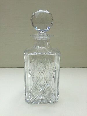 "Thomas Webb England Crystal Decanter St Andrews Cut 9.5"" Tall"