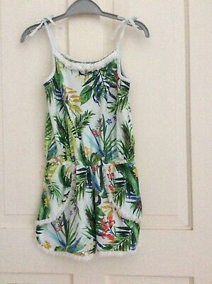Girls age 8 shorts playsuit Next BNWT Tropical Slub Jersey