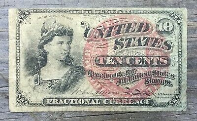 10ct Fractional Currency March 3, 1863 AMERICAN BANK NOTE CO.