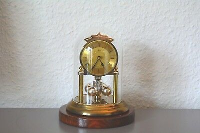 HERMLE Vintage glass dome clock. Made in Germany.