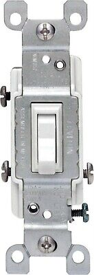 Leviton Quiet Toggle Switch 3 Way 15 A 120 V White Csa Bulk Pack of 10
