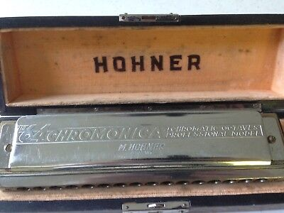 Hohner Nr 280/64 Chromonica Professional Model Germany - for Repair/Spares