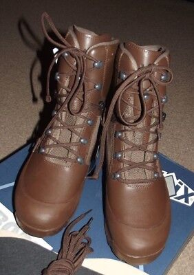 British Army Haix High Liability Combat Boots, Gortex, Size 9 W, Brand New