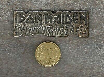 Rare Pin's MUSIC ROCK - IRON MAIDEN - CAN I PLAY WITH MADNESS