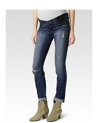 PAIGE Blue Jeans Maternity Jimmy Skinny Tawni Destruction 25 XS $199 Sold Out